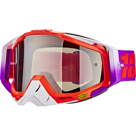 100% Racecraft Anti Fog Mirror goggles, watermelon